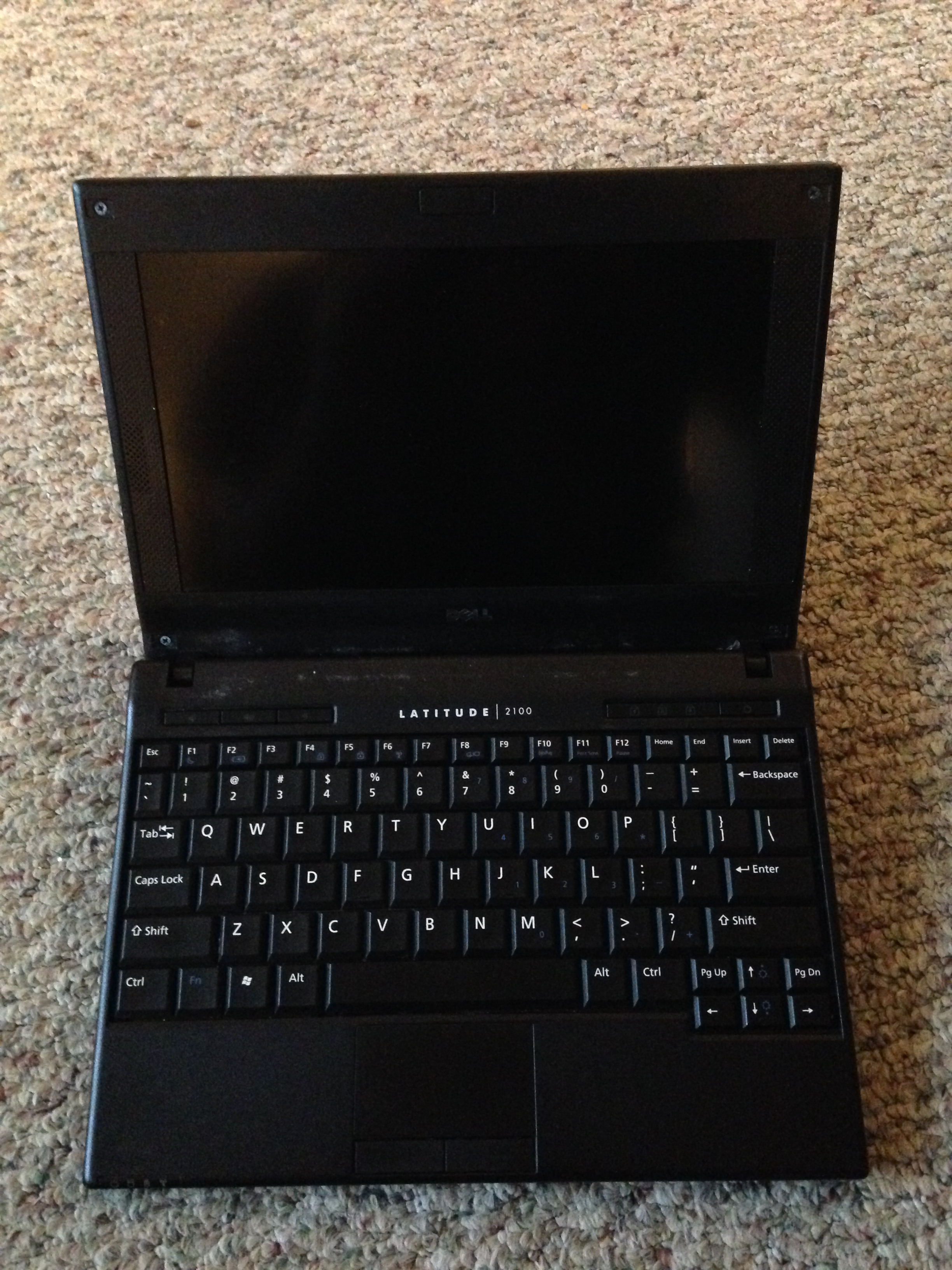 My travel netbook, open.